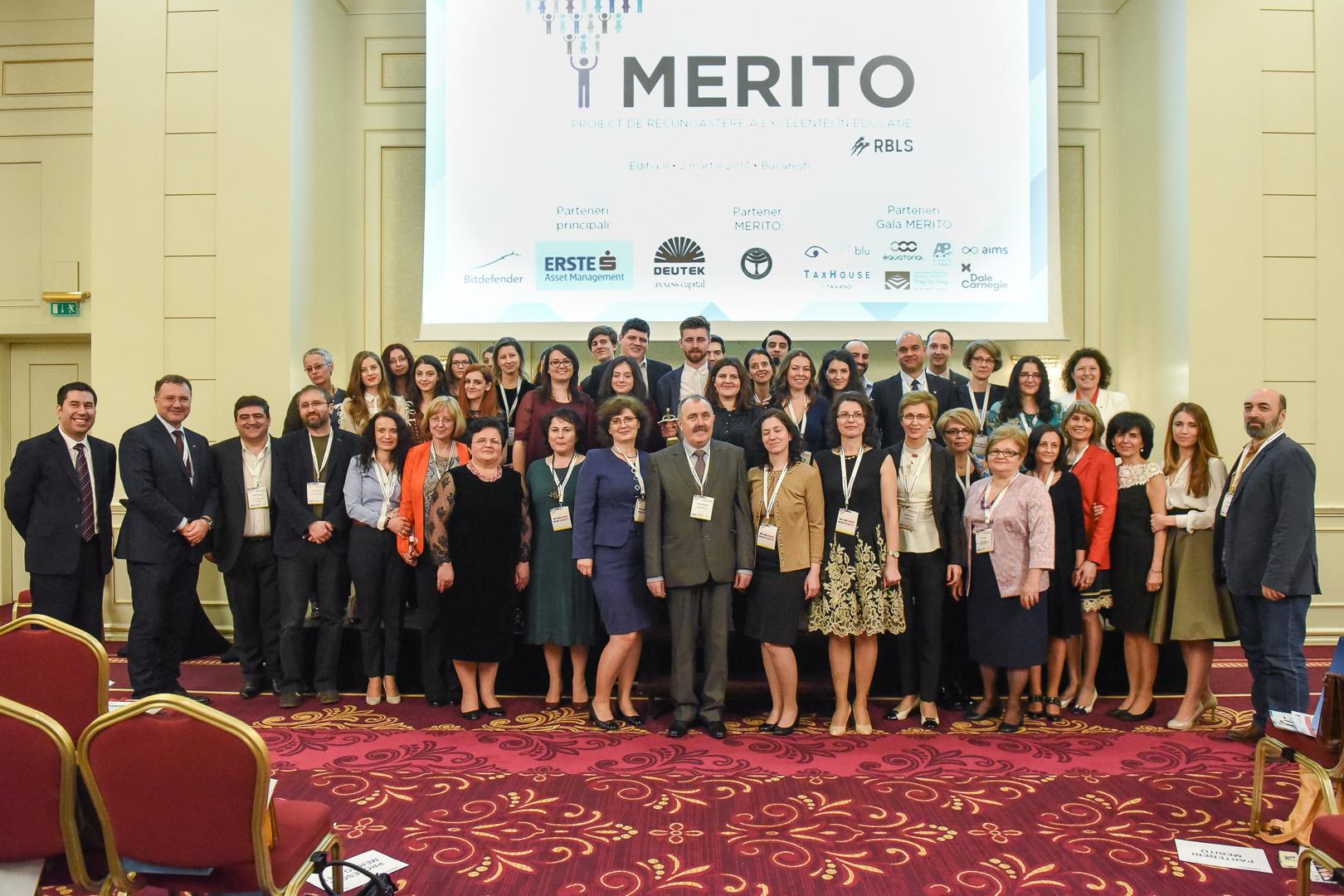 Gala MERITO 2018: premiem profesorii valoroși din România