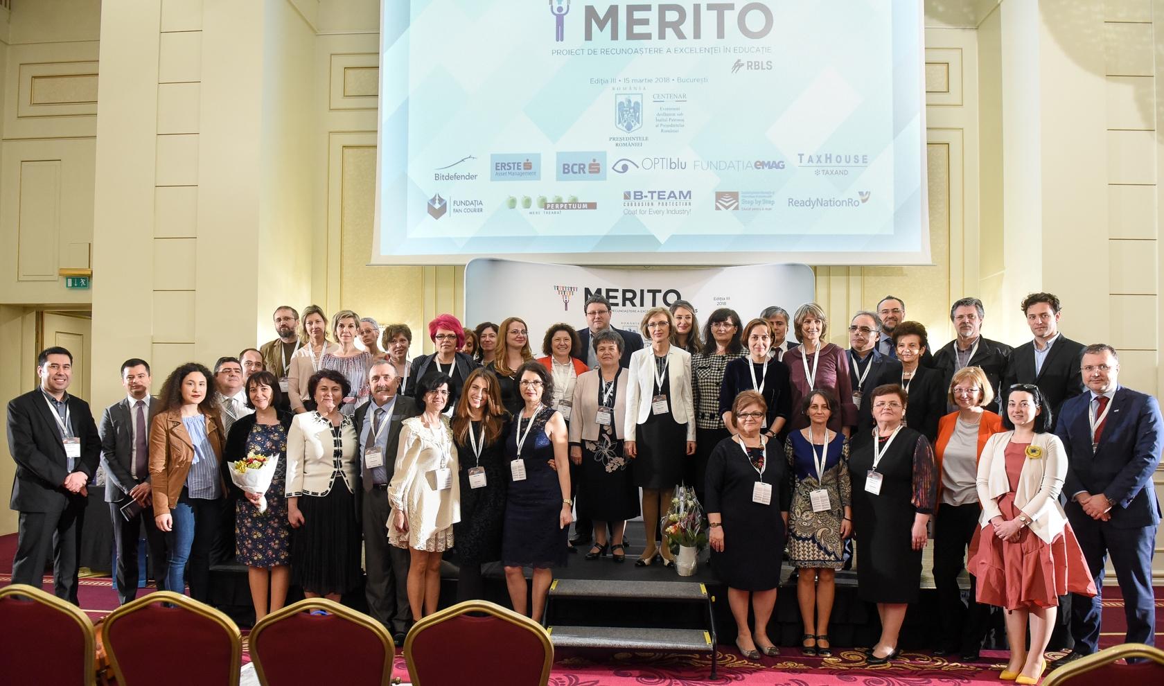 Recunoaştem împreună Excelenţa în Educaţie, pentru al patrulea an la rând, la Gala MERITO 2019