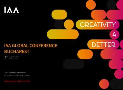 """Conferinţa Globală IAA """"Creativity4Better"""" revine în România pe 17 octombrie"""