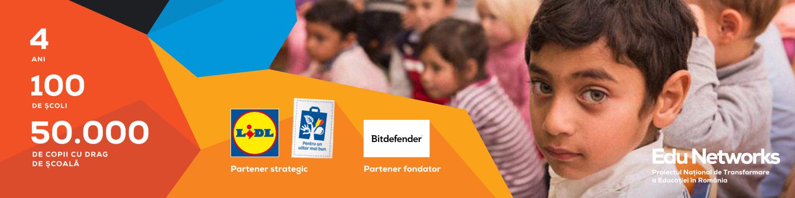 Edu Networks caută 100 de școli motivate să ridice calitatea educației pentru 50.000 de copii