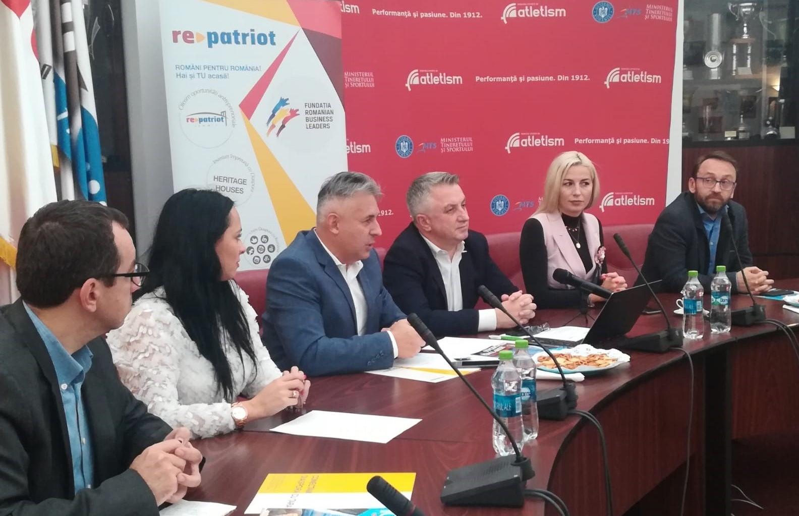 Sportivii români de pretutindeni conectați cu Țara prin RePatriot și Federația Română de Atletism