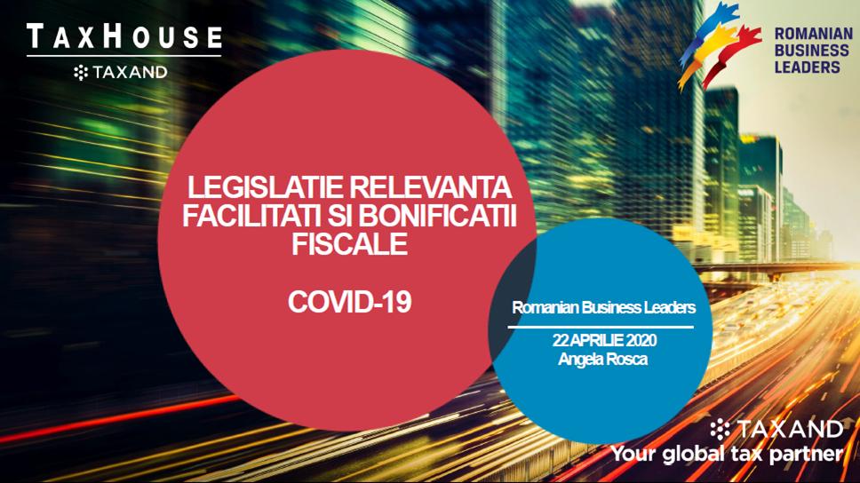 Facilități și bonificații fiscale pentru antreprenori în context COVID-19