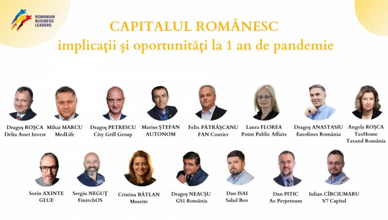 [RBL] Capitalul românesc la un an de pandemie – Concluziile antreprenorilor români