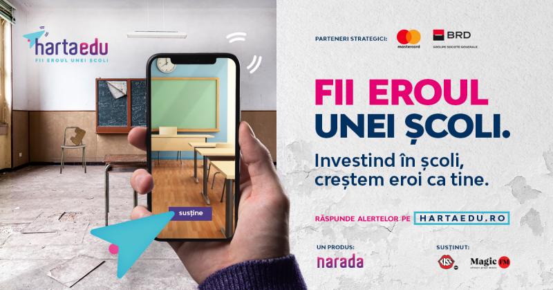 Peste 120 de alerte ale profesorilor prezente deja pe HartaEdu, platforma voce a școlilor din România